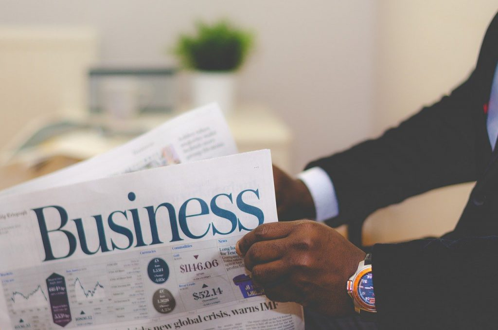 business, business man, newspaper